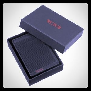 TUMI ID Lock Money Clip and Card Case Alpha